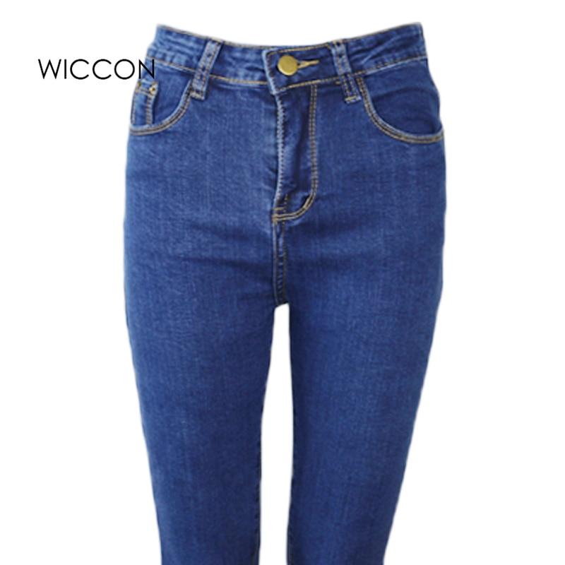 Slanke jeans voor vrouwen Skinny hoge taille jeans Vrouw blauwe denim - Dameskleding - Foto 2