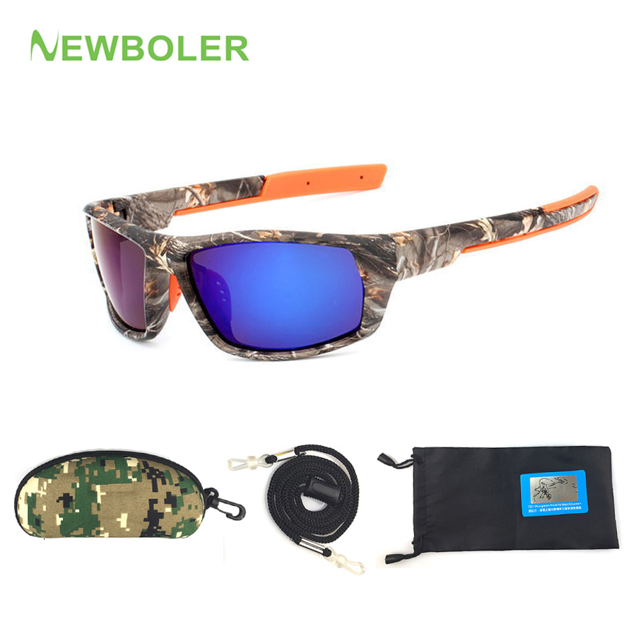 цена на NEWBOLER Camo Polarized Sun Glasses Men Fishing Spectacles Driving Cycling Sport Glasses oculos de sol Fishing Eyewear Equipment