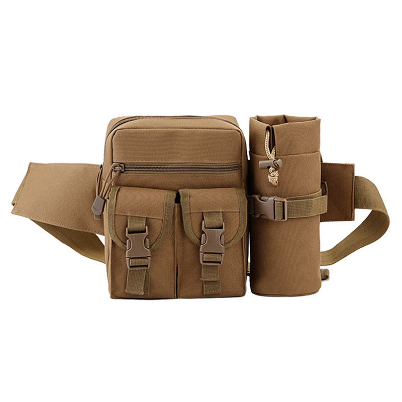 Camouflage tactics kettle pockets men bag outdoor running riding mountain climbing hiking bags F24