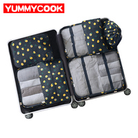 7Pcs/set Women Men Travel Luggage Storage Bags Shoes Clothes Toiletry Cosmetic Pouch Kits Organizer Wholesale Accessories Suppli