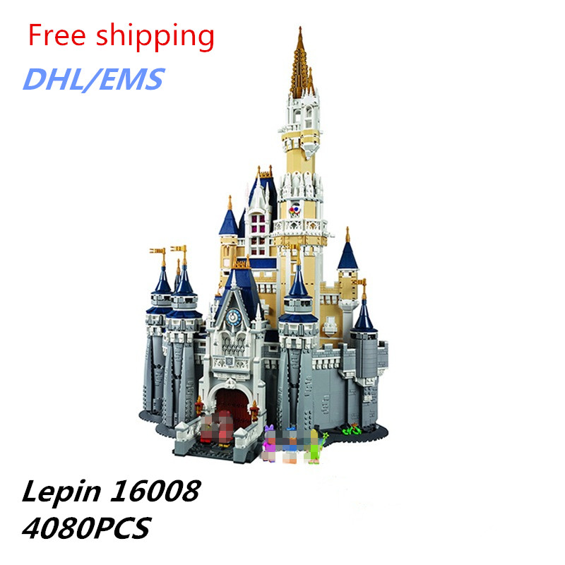 2018 Chaude Lepin 16008 En Plastique Mickey Château Disney de Brique Enfants Jouets Éducatifs Cadeau D'anniversaire Compatible 71040