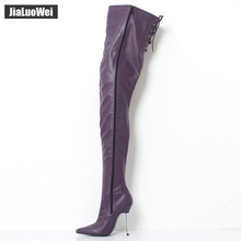 2017 Big Size Women's Winter/Autumn Folding Over the Knee Boots Sexy Thin High Heel Boots Fashion Pointed toe Boots Women Shoes