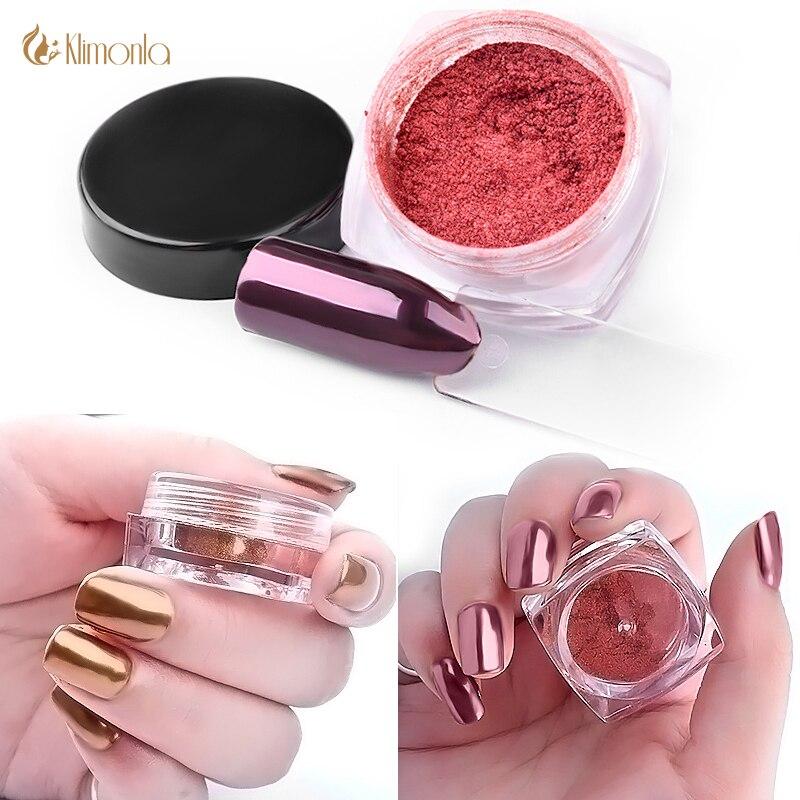 Hermosa Rose Del Espejo Uñas De Oro Imagen - Ideas Para Pintar Uñas ...