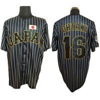 Mens Shohei Ohtani T shirt #16 Japan Team Baseball MAN Stitched Button Down T Shirt Fashion camisetas hombre tshirt Jersey
