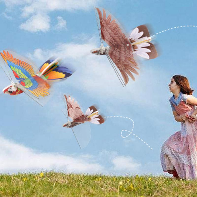New Electric Paper Airplane Model 2 4GH DIY Remote Control Paper Flying Bird Eagle Parrot Shape