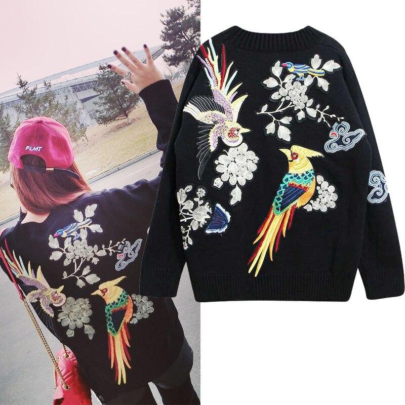 Chine Fleur Lourds Dos Vent Pull Papillon Nuages Broderie Femmes La 4qXAdwSp4