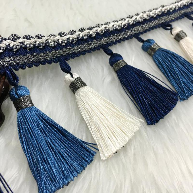 12yards lot Curtain Accessories Tassel Fringe Trim Ribbons Diy For Curtain Sofa Veil Sofa Home Decor