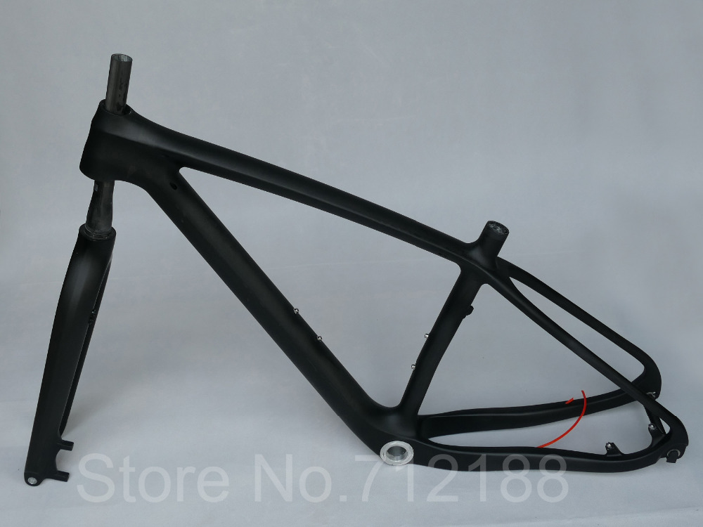 Mountain-Bike-Frame FORK Thru-Axle Carbon-Matt/glossy 29er UD 15MM Fork-Bsa/bb30-15.5-19-