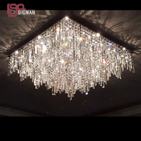 Promotion sales new modern foyer chandeliers crystal light fixtures lustre G4 luminare