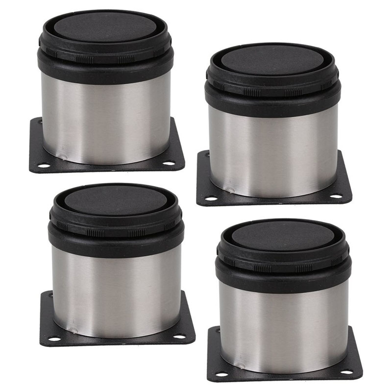 4pcs Adjustable Support Furniture Legs Kitchen Cabinets Stainless Steel Cabinet Feet 50x50mm bqlzr 4pcs 120x85mm round silver black adjustable stainless steel plastic furniture legs sofa bed cupboard cabinet table feet