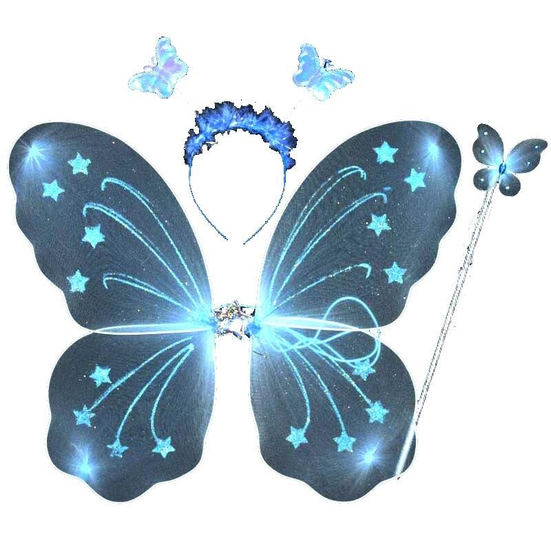 3 unids/set princesa niños bebé niñas mariposa ala varita diadema Hada fiesta suministros disfraz accesorios decoración de fiesta 1 unids/lote bolsa de fiesta congelada de la princesa Mochila de tela Elsa Frozen bolsa de escuela de viaje para niños bolsa de regalo con cordón de decoración