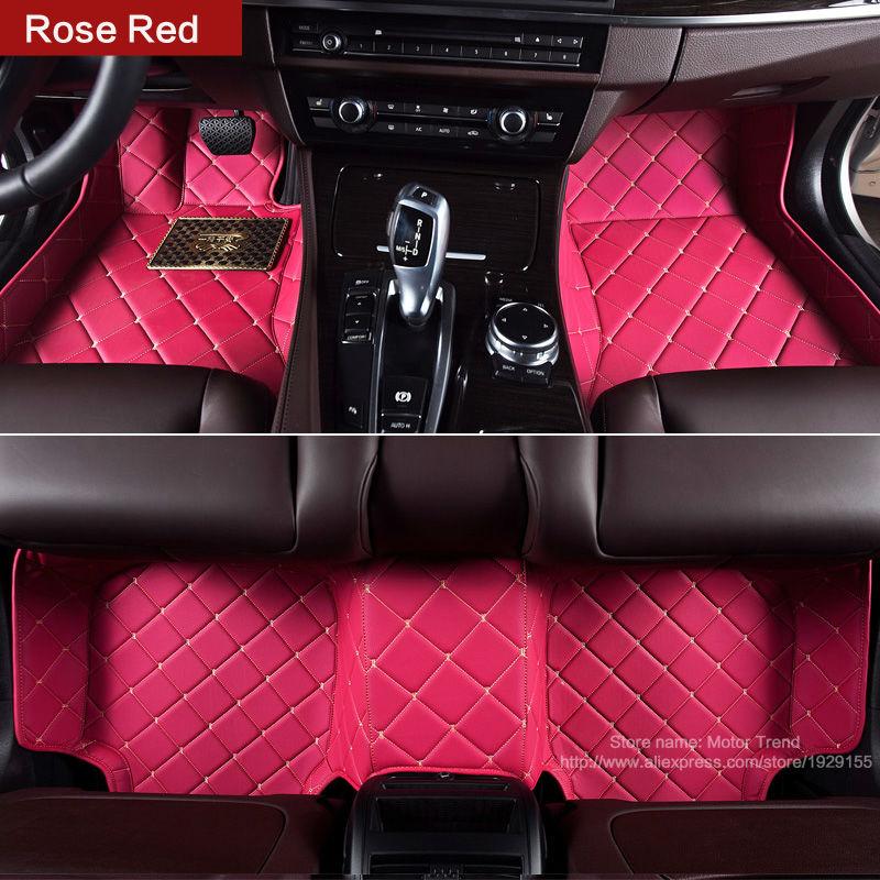Custom make car <font><b>floor</b></font> mats for <font><b>Ford</b></font> Fusion Mondeo Focus Edge <font><b>Escape</b></font> Kuga Explorer 3D car-styling carpet rugs waterproof liners