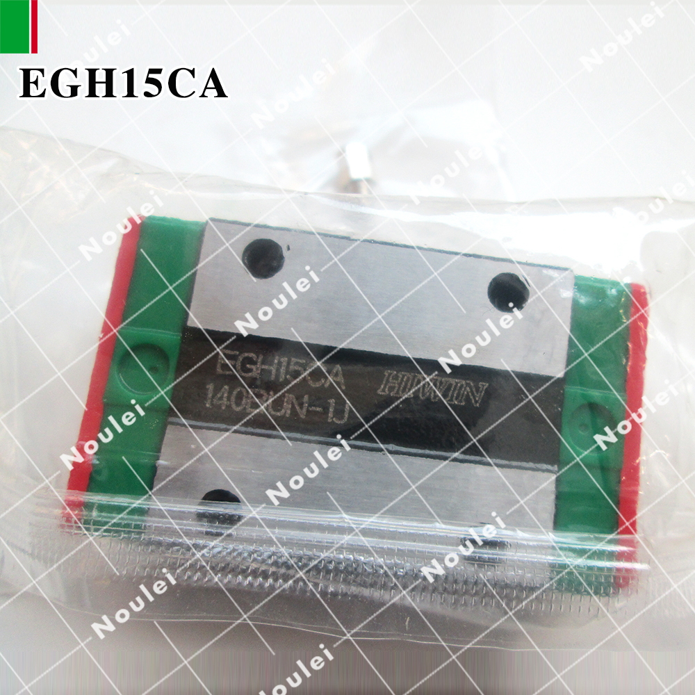 HIWIN EGH15CA sliding block for 15 linear motion guide rail EGR15 High efficiency CNC z axis EGH15 free shipping to argentina 2 pcs hgr25 3000mm and hgw25c 4pcs hiwin from taiwan linear guide rail