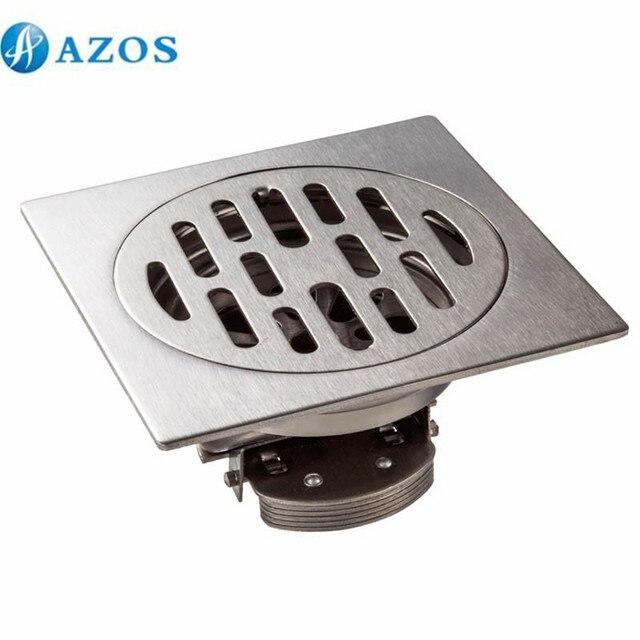 304 Stainless Steel Nickel Brushed Toilet Floor Drain Strainer Grates Waste  Bathroom Shower Ground Overflow Fitting
