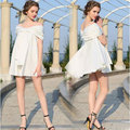 Bride Wedding Sleeve Dress Maternity Photography Props Waist Deep V Collar Clothes Pregnant Women Party Dress For Photo Shoot