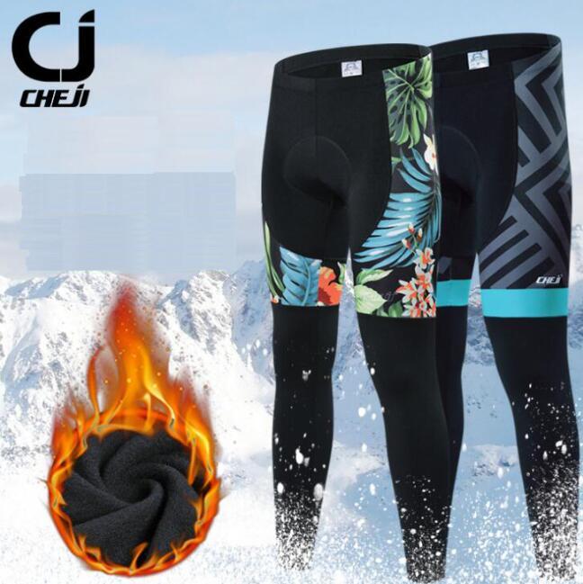 CHEJI Bike Bicycle Long Pants Sports Clothing MTB Riding Trousers Protective Pad Padded Sportswear Bicycle Pants