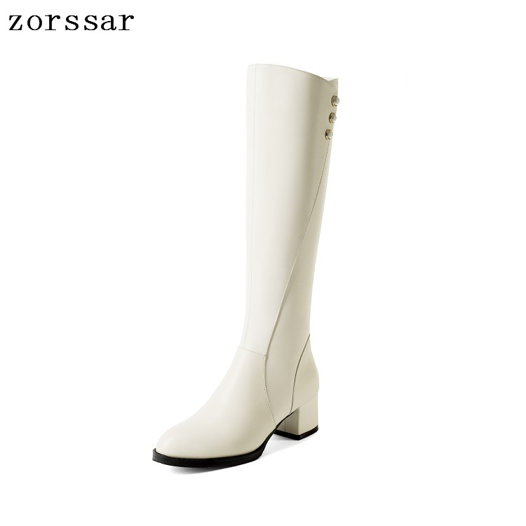 {Zorssar} 2019 Women Winter Shoes Knee High Boots Big Size High Quality Leather Brand Women Shoes High heel Women riding boots{Zorssar} 2019 Women Winter Shoes Knee High Boots Big Size High Quality Leather Brand Women Shoes High heel Women riding boots