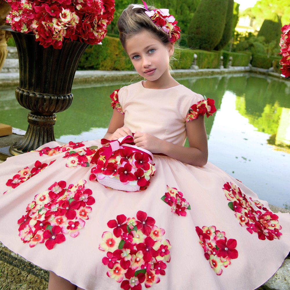 Kids Dresses for Girls Costumes Robe Fille Enfant 2017 Brand Toddler Girls Summer Dress Flower Print Princess Dress with Sashes girls dresses summer 2016 brand christmas dress princess costume robe fille enfant floral print kids dresses for girls clothes