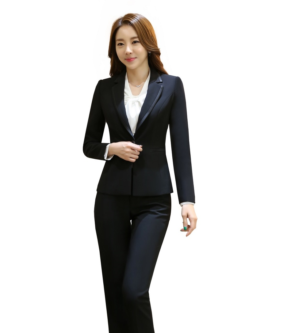 black womens business suit dress yy