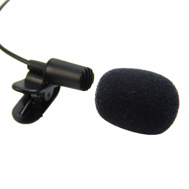 1 PC Mini Hands Free Clip On Lapel Microphone Mic For PC Notebook Laptop Skype 3.5mm