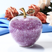Christmas Gifts Crystal Apple Miniature With Colored Stuffin
