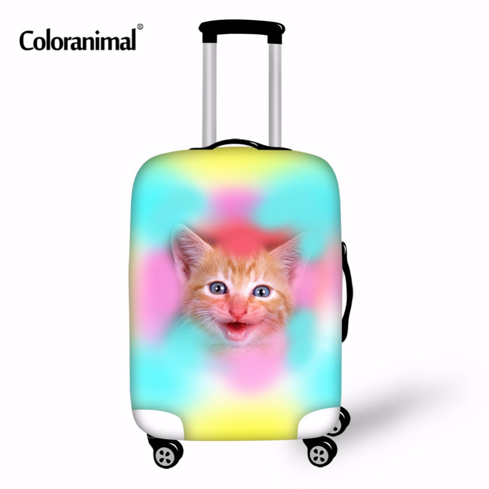 Coloranimal Animal Cat Husky Dog Luggage Protective Cover Luggage Case Cover for 18-30 inch Trolley Suitcase Elastic Rain Covers