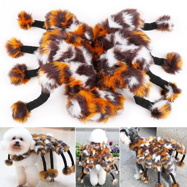 Funny Spider Dog Costume Clothes For Small Dog Pet Cat Party Halloween Dog Puppy Custome Clothes Jumpsuit