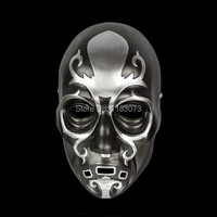 Harri Potter Death Eater Resin Mask Movie Replica Black Horror Paintball Airsoft Mask Ball Halloween Carnival Free Shipping