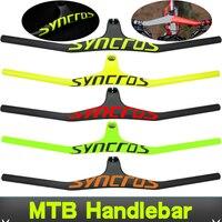syn Custom Champion MTB Bicycle Riser 17 degree One shaped Integrated Handlebar With Stem 3K Black Matte Carbon MTB Handlebar