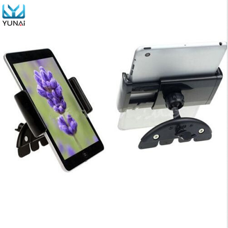 YUNAI Universal 7 Inch Adjustable 60 90mm Car CD Slot Mobile Mount Holder Stand For ipad