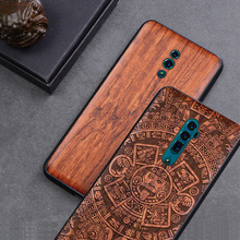 Carved Wood Case For OPPO Reno 10x zoom Shockproof Case TPU Bumper Cover For OPPO Reno 10x zoom Case Wood Shell OPPO Reno cheap BOOGIC Fitted Case carved wood tpu case cover Floral Quotes Messages Animal Anti-knock Dirt-resistant as picture OPPO Reno 10x zoom oppo reno