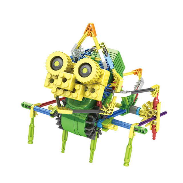 LOZ Creative DIY Assemblage Electric Motor Robots Models & Building Toys Hobbies Children Educational Gear Blocks For Boys