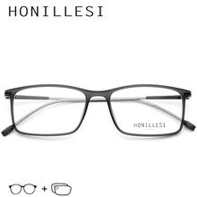 TR90 Prescription Glasses Frame Men Transparent Square Eyeglasses Metal Vintage Spectacles Myopia Optical Frames Eyewear Oculos