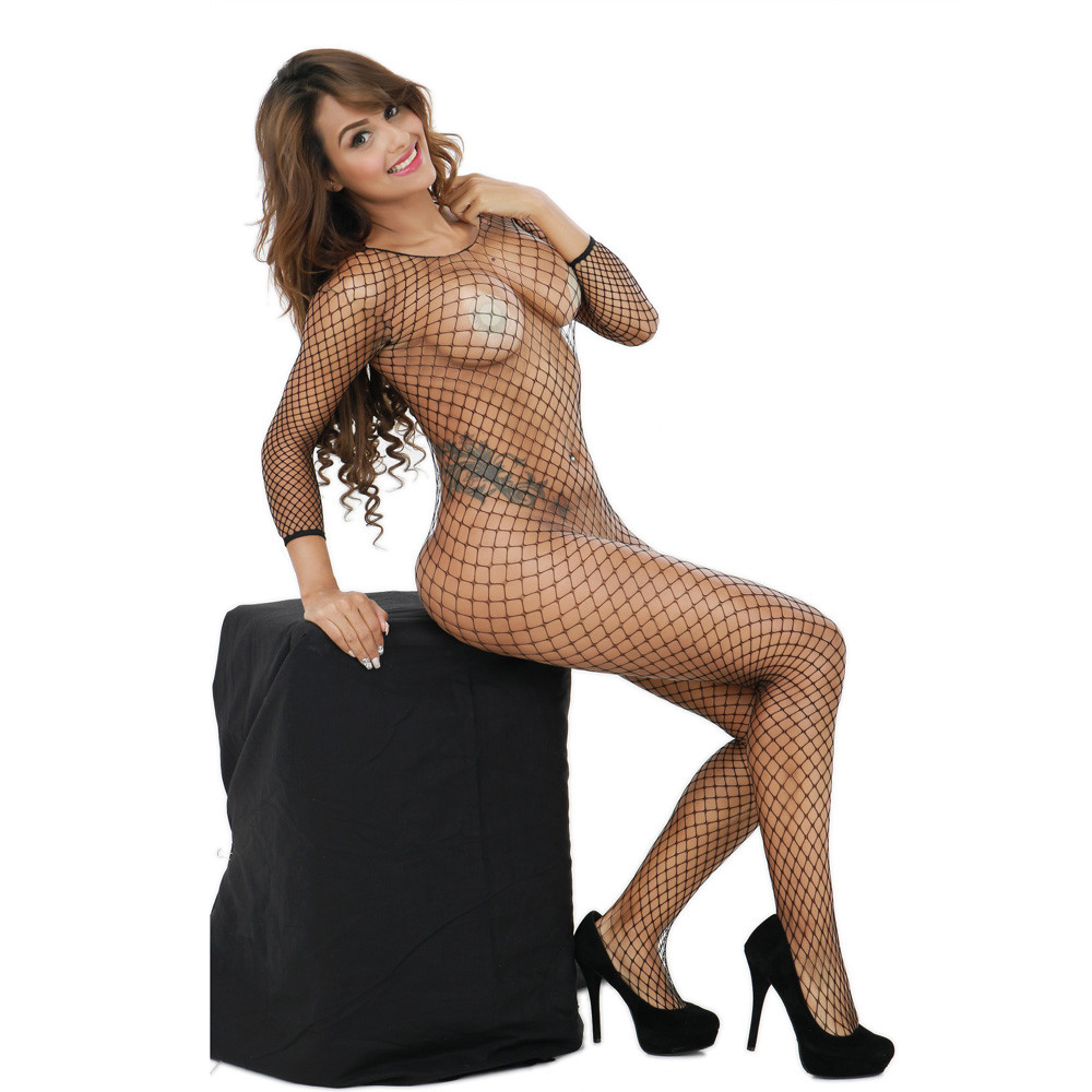2019 <font><b>Women</b></font> <font><b>Sexy</b></font> Costumes Lingerie Bodysuit Fishnet Crotchless Babydoll Bodysuits Nightwear <font><b>catsuit</b></font> erotic Underwear bodystocking image