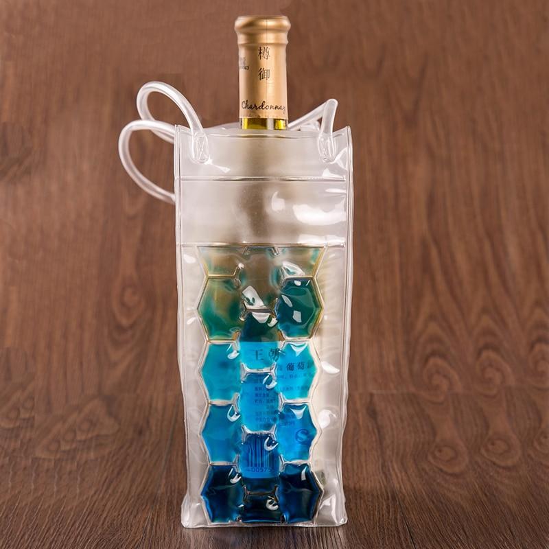 2016 NEW Creative PVC Wine Cooler Beer Cooler Bag Outdoors Ice Jelly Bag Picnic Beverage Cooler Bag Wine Chillers Frozen Bag