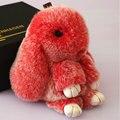 Envío libre 14 cm Súper adorable Conejito Conejo Conejo Colgante Colgante Nuevo Color Crema Meng Meng conejo conejo bolsas Llavero