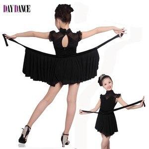 Image 2 - Girls Dance Dresses Child Dance Costume Salsa Tango Dress Mesh Sexy Dress For Ballroom Dance