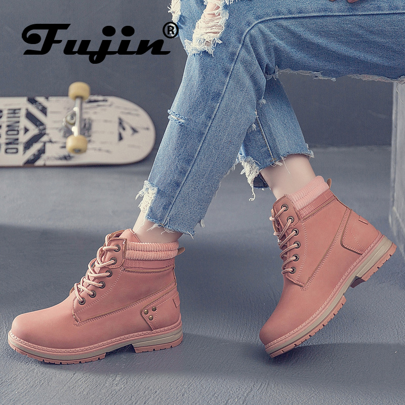 boots women 2019 winter autumn Fujin Brand Keep Warm Pu Leather Women Lace Up fashion women Ankle Bootsboots women 2019 winter autumn Fujin Brand Keep Warm Pu Leather Women Lace Up fashion women Ankle Boots