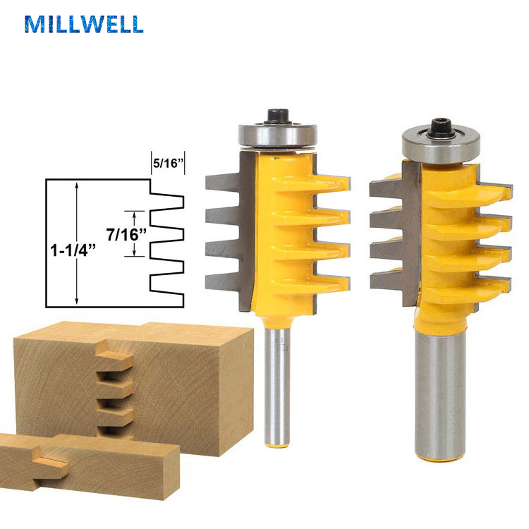 1PCS Free shipping woodworking router bit,solid carbide end mill,wood milling cutter,CNC wood tool,Bevel teeth Mortise knife-in Milling Cutter from Tools