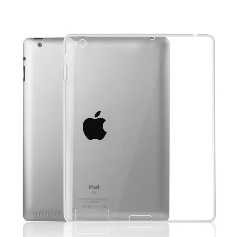 Case for iPad 2 3 4 capa para Soft Silicon Transparent Back Ultra Slim Full Body Protect Cover Case for funda iPad 2 3 4 coque
