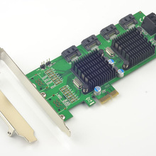 PCI-E zu 8 Ports SATA 3,0 6 Gb/s Expansion Karte 88SE9215 + 9705 Chipset für Marvell