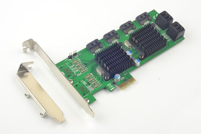 Pci-e до 8 Порты SATA 3.0 6 ГБ/сек. карты расширения 88se9215 + 9705 Чипсет для Marvell