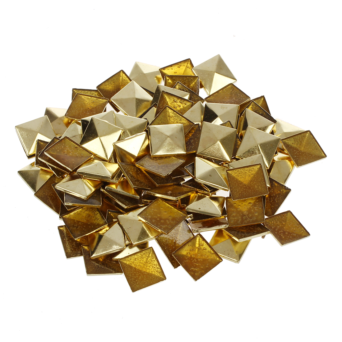 Pcs 10mm Diy Punk Style Pyramid Studs Nailheads Gold Group