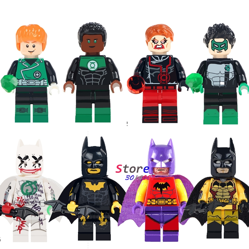 Single super heroes Classic Batman Red Green Lantern Clark Kent Joker Exclusive building blocks models bricks toys for children super heroes single sale the villain of yellow lantern skeletor heman he man he man building blocks toys for children gift kf921