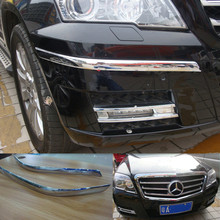 Auto front bumper protecting sticker for Mercedes benz GLK 300 2011 ABS chrome auto font b