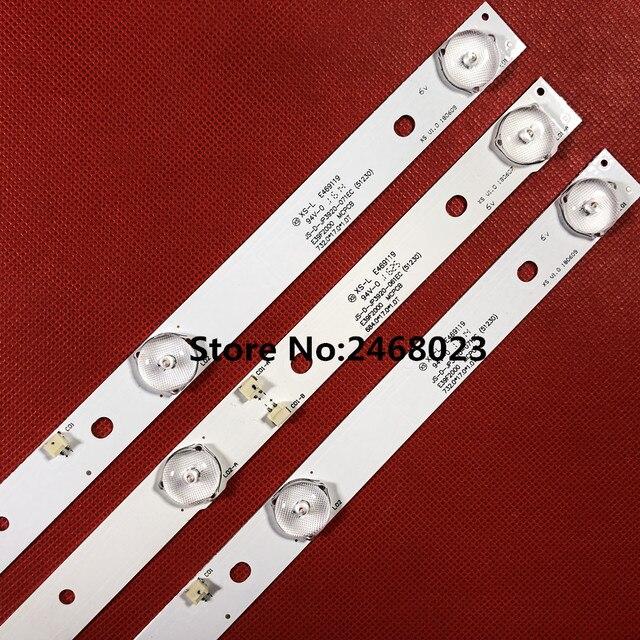 LED Backlight StripสำหรับJS D JP3920 061EC JS D JP3920 071EC E39F2000 MCPCB AKAI AKTV401 AKTV403 AKTV4021 D39 F2000 LC390TA