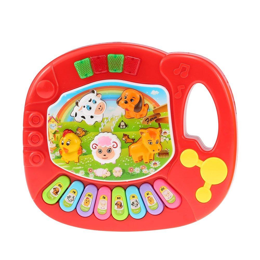 EBOYU(TM) Baby Kids Animal Farm Piano Electronic Keyboard Musical Educational Kids Toy Gift