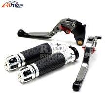 CNC Handlebar Motorcycle Handle Bar Grips Adjustable Clutch Brake Levers For TRIUMPH SPEED TRIPLE 1050/S 2016 BONNEVILLE T120 16