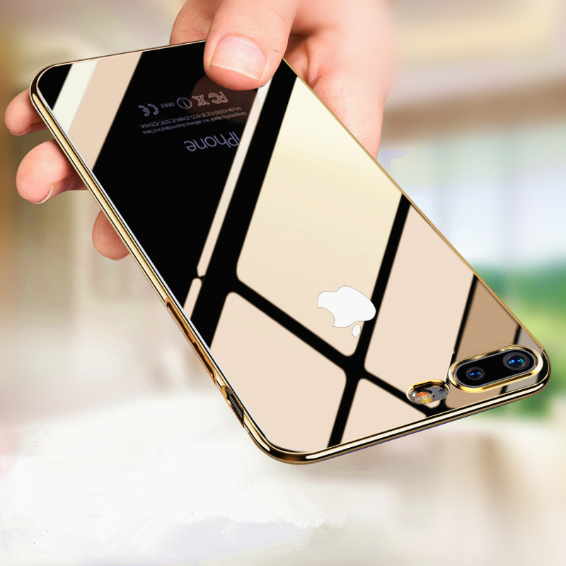 Ultra fino caso de telefone para iphone 8 plus tpu fino silicone macio capa para iphone 7 6s plus x xr xs max caso protetor escudo