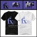 2017 New arrival Fx t-shirt victoria oloroso luna t shirt f x logo long short-sleeve T-shirt Women T-shirt